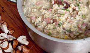 Leek and Bacon Risotto