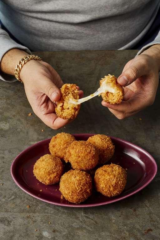 Jollof Rice Balls with Scotch Bonnet Sauce