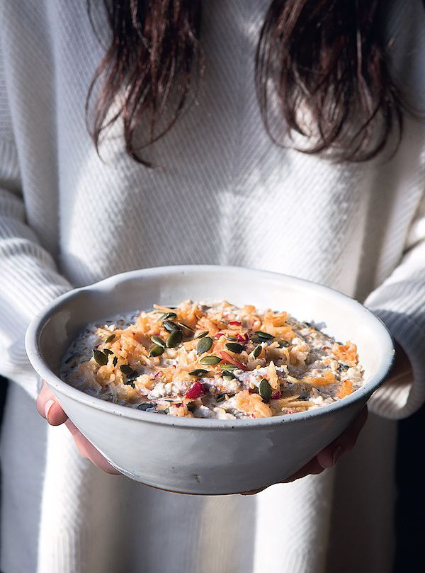 no cook oat breakfast bircher muesli the kitchen orchard natalia conroy