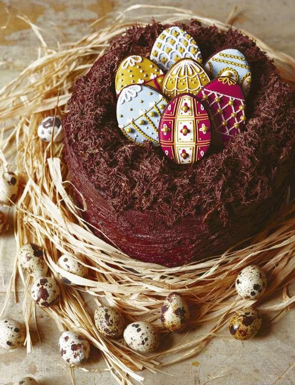 Biscuiteers Easter Egg Nest Cake