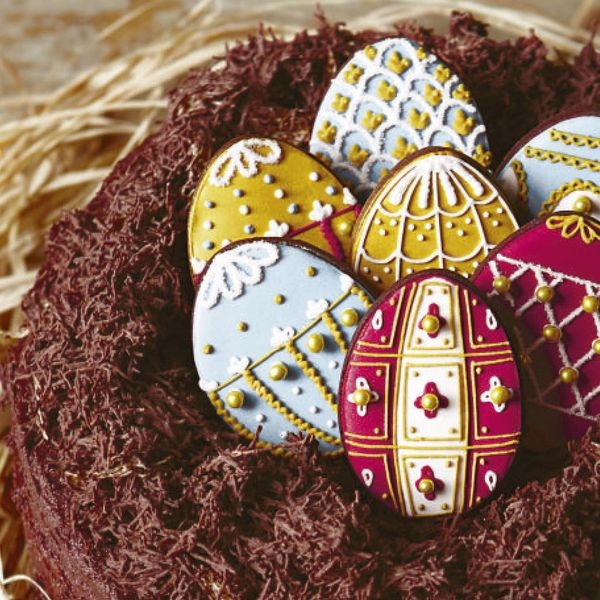 Biscuiteers easter egg nest cake negle Image collections