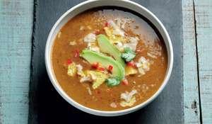 Black Bean Tortilla Soup with Avocado