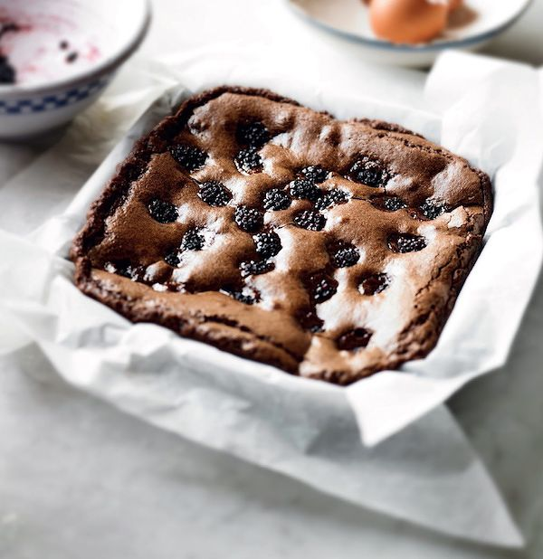 autumn baking blackberry brownies little book of chocolat