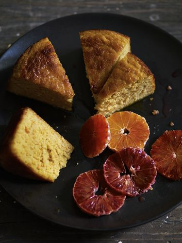 Blood Orange and Olive Oil Cake with Almonds from The New Vegetarian