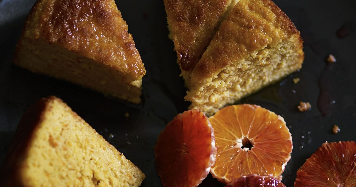 Blood Orange And Olive Oil Cake With Almonds