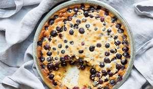 Nadiya Hussain Blueberry Clafoutis Baked Dessert Recipe