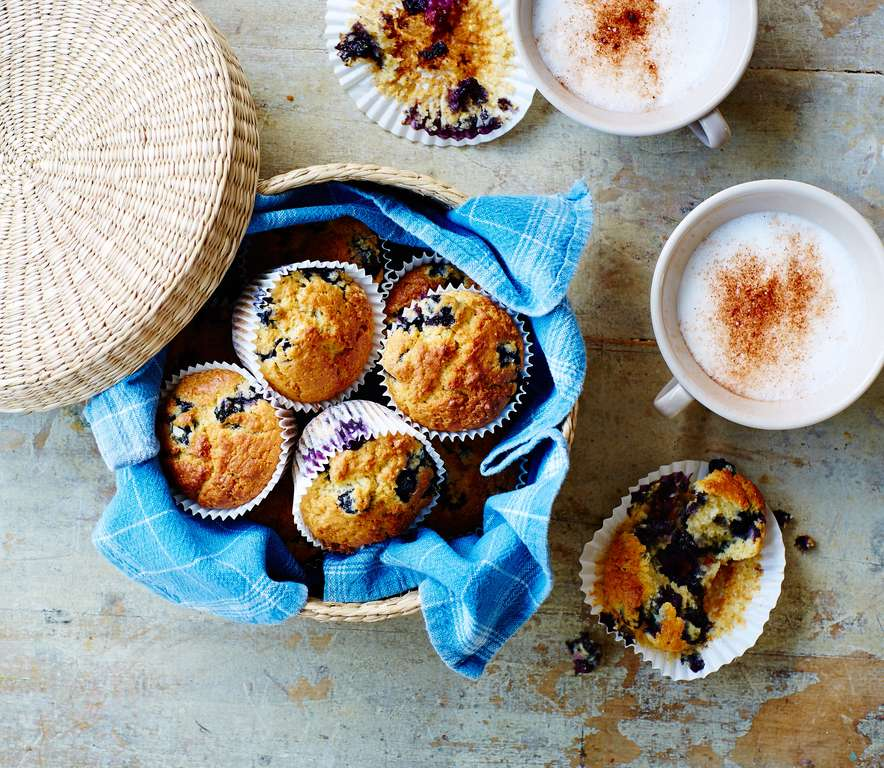 Blueberry, Amaranth, and Vanilla Muffins