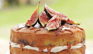 Fig, Caramel and Mascarpone Cake
