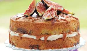 Fig, Caramel and Mascarpone Cake