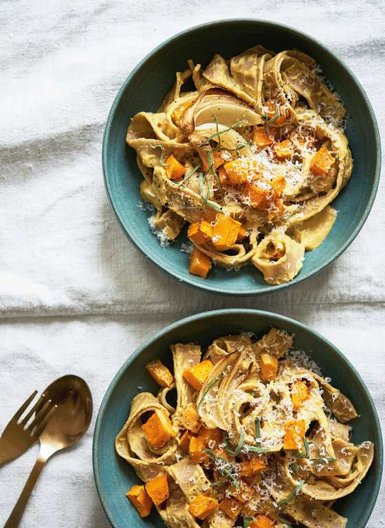 Butternut, Cashew, and Sage Pasta