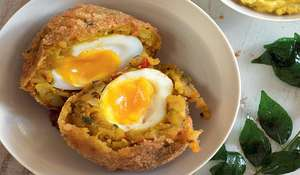 Bombay Potato Scotch Egg
