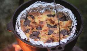 Bread and Butter Pudding with Marmalade and Chocolate