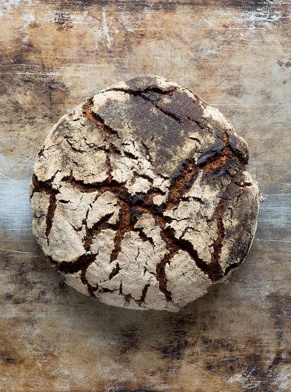 Rye and Malt Sourdough