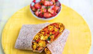 Plantain Breakfast Burrito with Pico de Gallo | Vegan Recipes