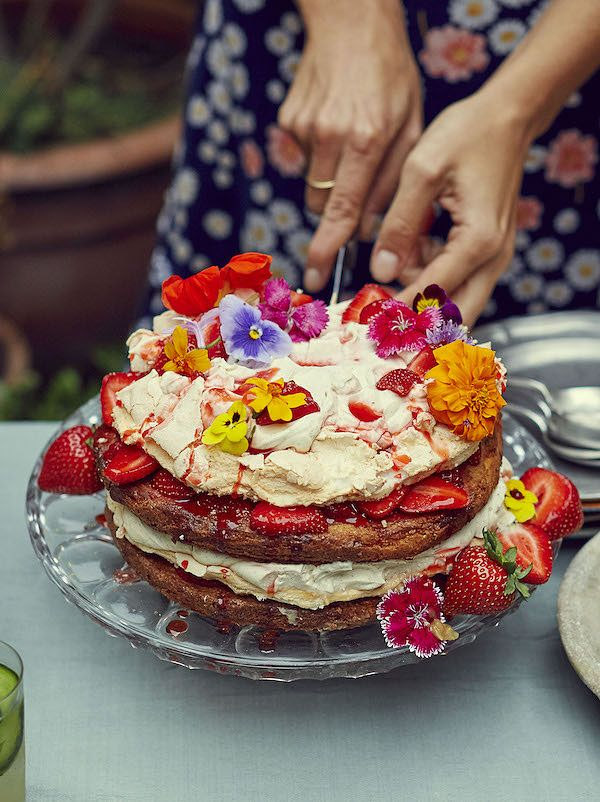 meringue dessert recipes british summertime stack georgina hayden