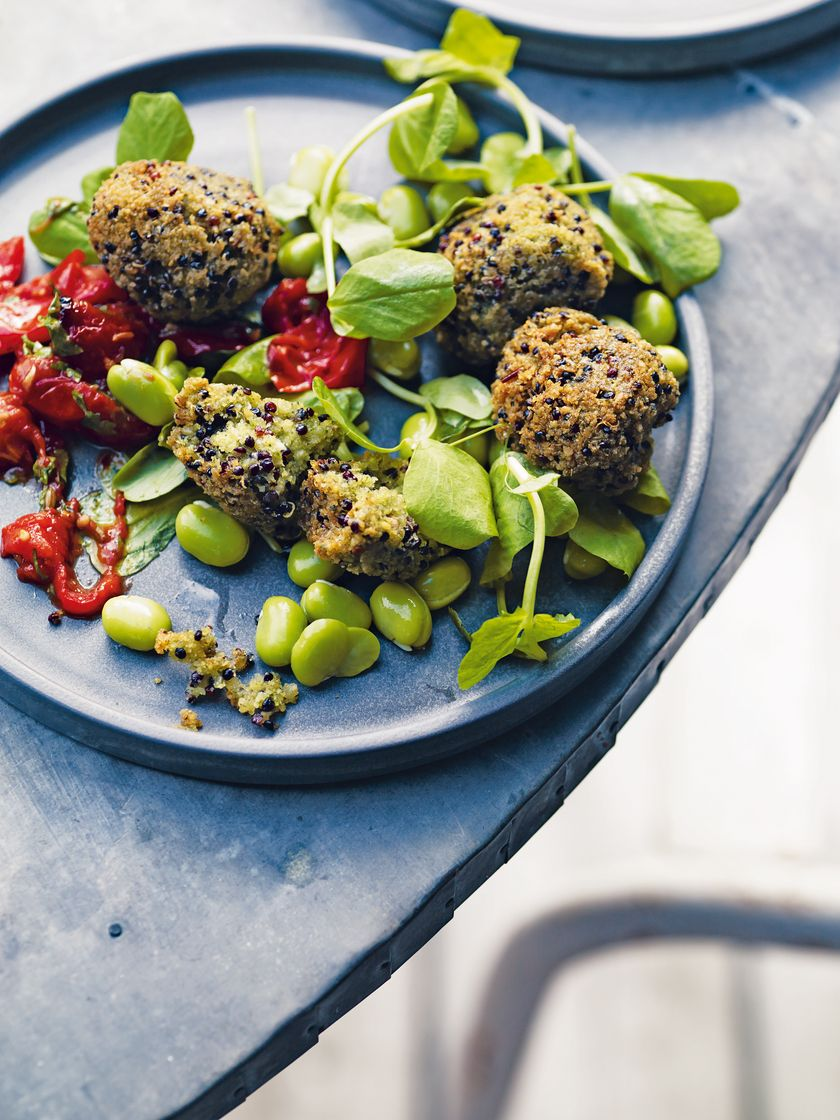 Vegan work from home lunches | quinoa falafel