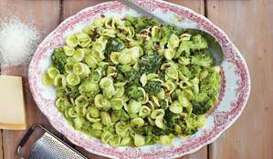Broccoli Pasta, Chopped Garden Salad