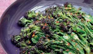 Purple Sprouting Broccoli with Clementine and Chilli from Nigella Lawson's Simply Nigella