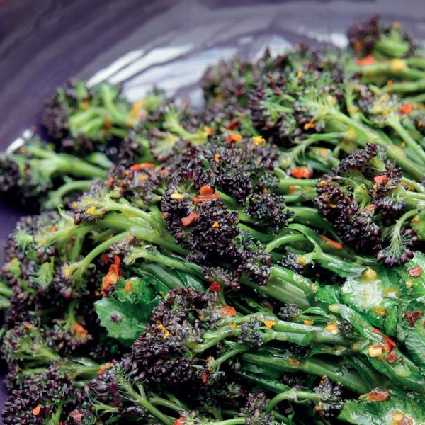 Purple Sprouting Broccoli With Clementine And Chilli The Happy Foodie