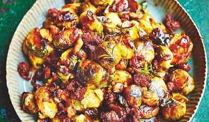 Jamie Oliver's Chorizo and Chestnut Brussels Sprouts