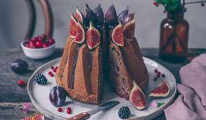 Cranberry, Fig and Chocolate Buckwheat Bundt Cake Recipe
