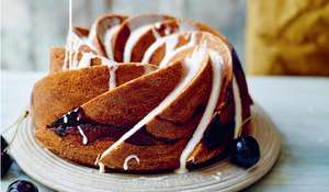 Georgina Hayden's Cherry Bakewell Bundt from Stirring Slowly