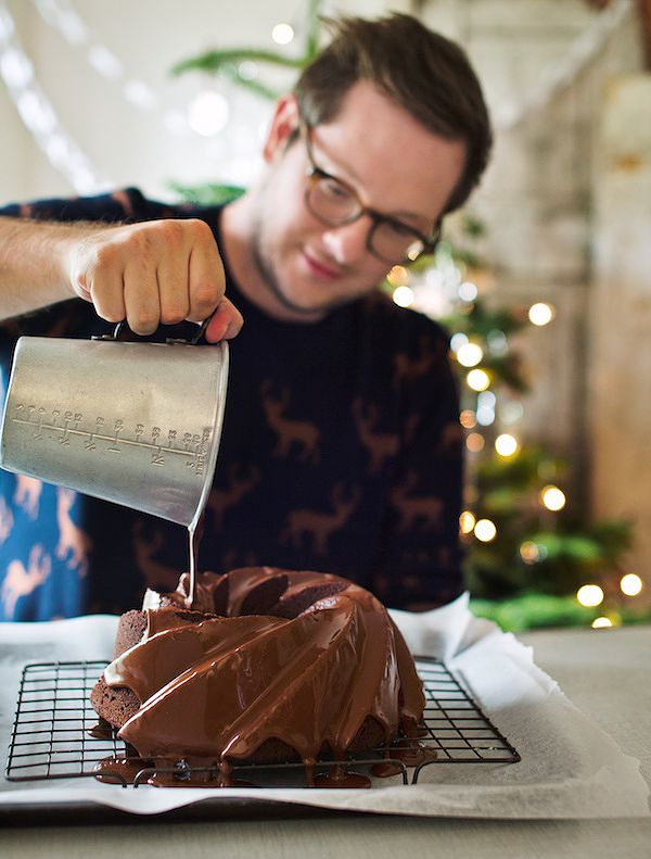 save food waste at christmas Edd's Spiced Chocolate Bundt Cake from The Great British Bake Off: Christmas