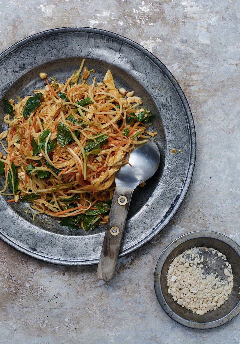 eat the seasons summer burmese chicken salad kohlrabi caravan dining all day