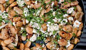 Fried Butterbeans with Feta, Sorrel and Sumac | Ottolenghi