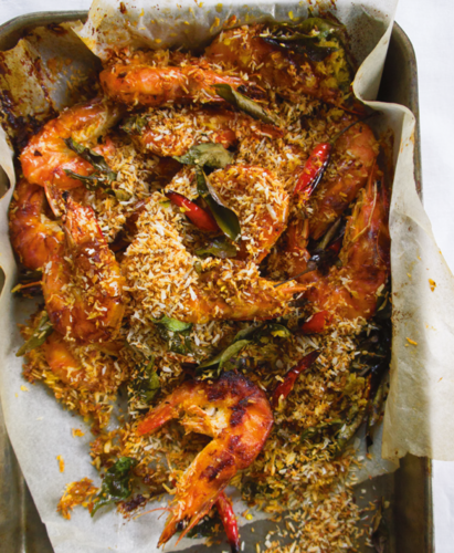 Roasted Butter Prawns
