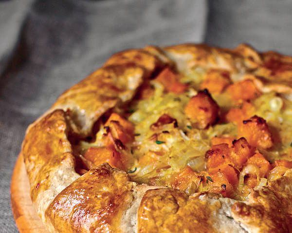 Butternut Squash and Caramelized Onion Galette the smitten kitchen cookbook