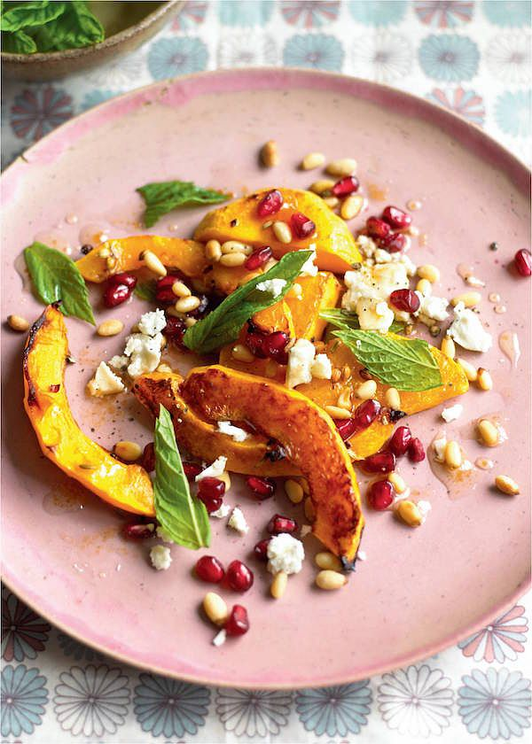 squash feta salad recipe