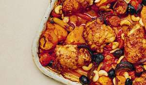 Candice Brown Spicy Chicken and Cashew Traybake | Midweek Meal