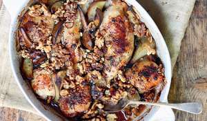 Cardamom, Walnut and Pear Chicken