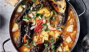 Vegetarian Caribbean-Inspired Curry Recipe with Fresh Roti