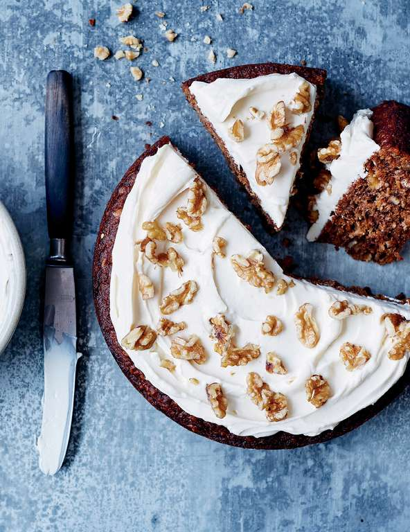 Carrot, Apple and Walnut Cake