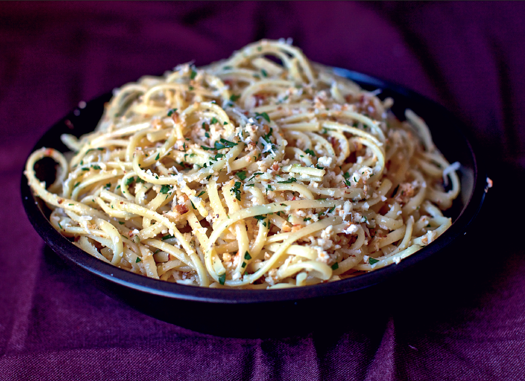 Linguine with Cauliflower Pesto