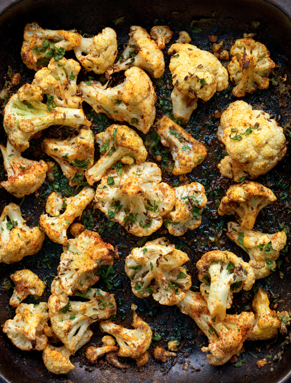 Roasted Cauliflower with Punjabi Seasonings