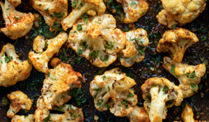Roasted Cauliflower with Punjabi Seasonings from Madhur Jaffrey's Curry Easy Vegetarian