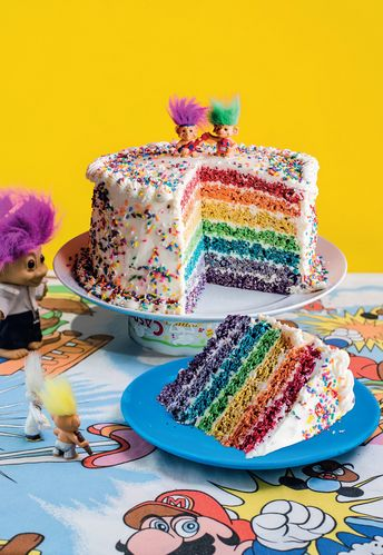 Rainbow Pop Celebration Cake from the Cereal Killer Cafe Cookbook