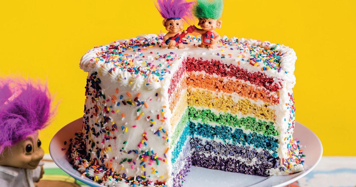 Rainbow Pop Celebration Cake The Happy Foodie