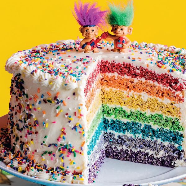 Brilliant Rainbow Pop Celebration Cake The Happy Foodie Personalised Birthday Cards Arneslily Jamesorg