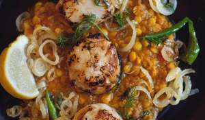 Chana Daal with Scallops
