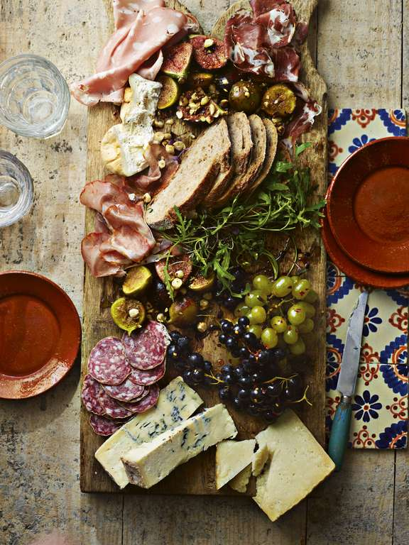 Ainsley Harriott's Corsican Charcuterie Board with Honeyed Figs and Chilli-glazed Grapes