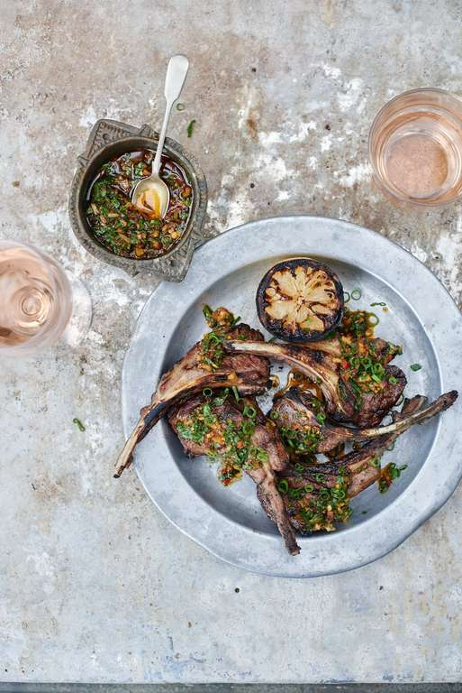 Chargrilled Lamb Cutlets, Chermoula