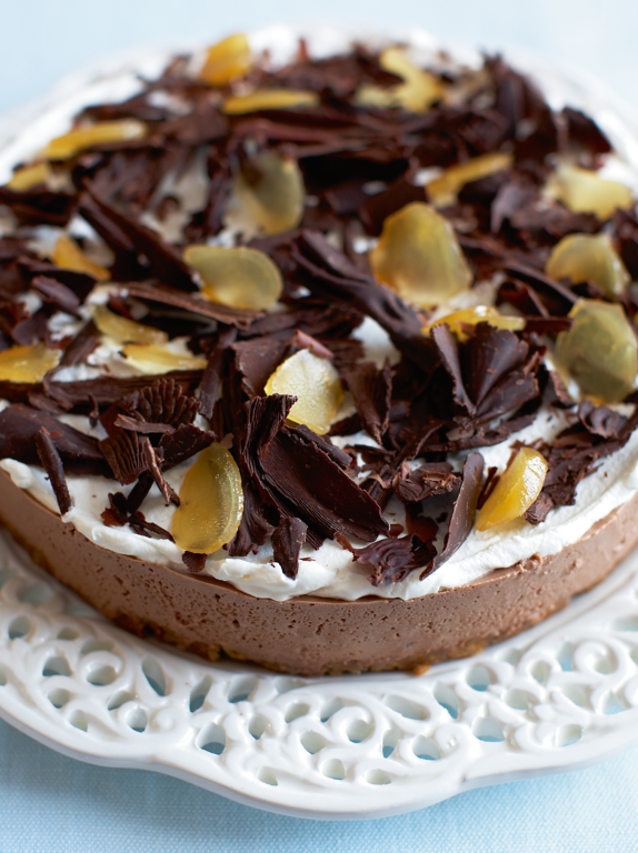 Mary Berry's Chocolate, Brandy & Ginger Cheesecake