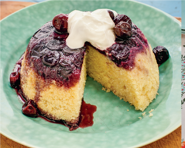 Cherry Bakewell Pudding