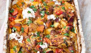 Jamie Oliver's Chicken & Chorizo Bake from Super Food Family Classics