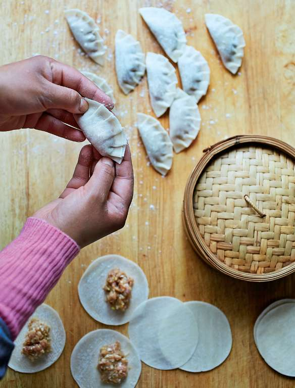 Chicken and Pork Steamed Dumplings