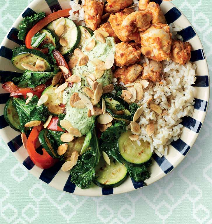 Spicy harissa chicken & rice bowl